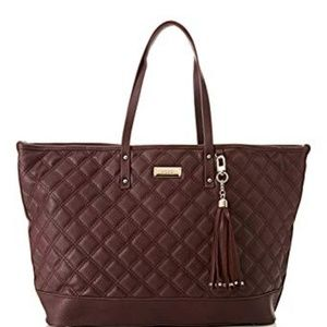 BCBG Paris Quilted Faux Leather Tote Bag
